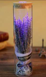Preserved flowers glass