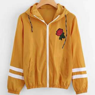 #3 Varsity Striped Rose Jacket