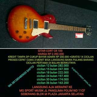 Gitar Cort CR 100 cicilan tanpa dp dan gratis 1x cicilan