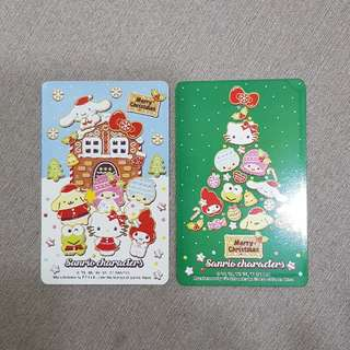 Christmas Sanrio Characters Hello Kitty Ezlink Cards