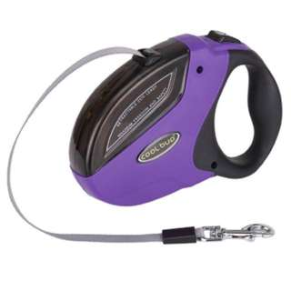 Dog Leads Retractable - COOL BUD GHB Dog Leads Retractable Extendable Dog Lead 5M for 50KG Dogs purple
