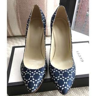 Patrizia Pepe pattern printed satin heel pumps shoes  #Made in Italy  @Size 37