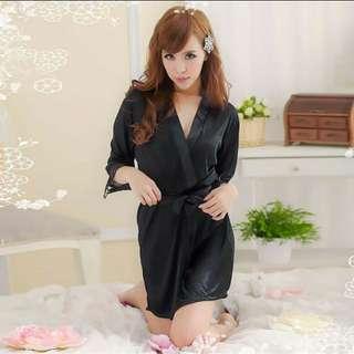 Satin Black Robe