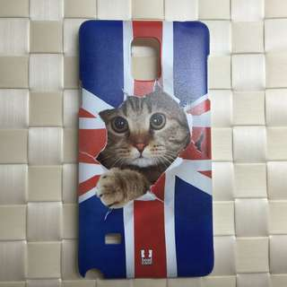 英國 Union Jack Peeping Cat Samsung Note 4 手機殼 蝕本價$80 * 只得一件