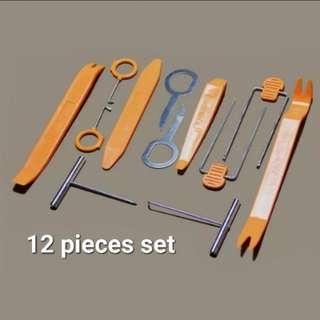 12pcs/set Car Dash Trim Tool Car Door Panel Audio Dismantle Remove Install Pry Kit Refit Set Hand Tools Set