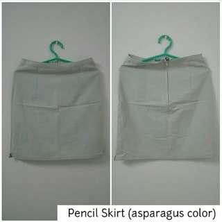 Pencil Skirt (asparagus color)