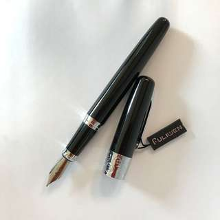 Elegant fountain pen with intricate carving.  Brand new.  Fuliwen brand