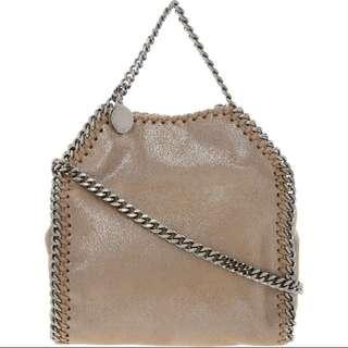 STELLA MCCARTNEY Brown Flecked Chain Bag