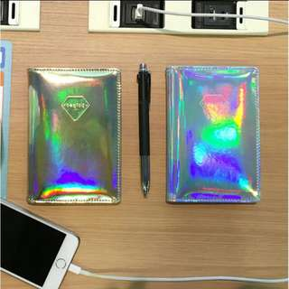 Holographic passport case cover