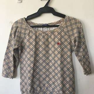 Burberry Round neck top with 3/4 sleeves