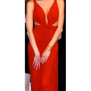 Gorgeous long red dress