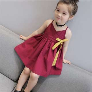 Kids - summer dress with ribbon