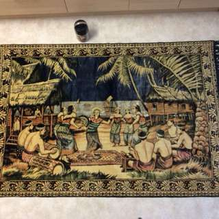Old Malay display rug never use