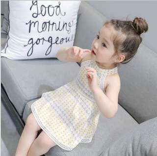 Kids - yellow dots summer dress