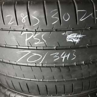 285/30/20 michelin pss used tyre 1pc available $80pc