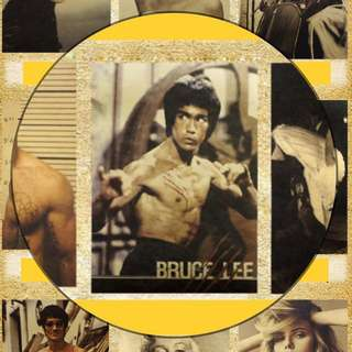Bruce Lee Kungfu Classic Vintage Retro movie poster painting
