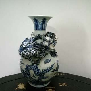 Dragon Embossed Surrounding Vase
