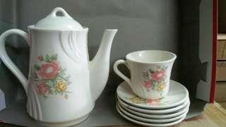 Cangkir set vintage napoleon,cofee set,tea set shabby chic