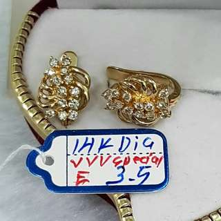 14k saudi gold with diamonds