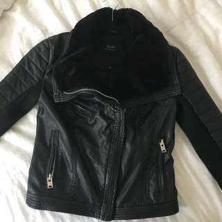 BARDOT leather Biker Jacket RRP. 180