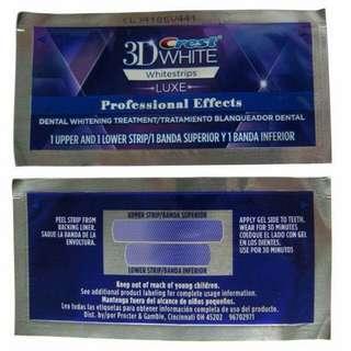 Authentic Crest 3D Whitening Strips (per sachet)