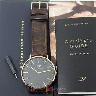 Jam tangan Daniel Wellington Classic black york Rosegold 40MM