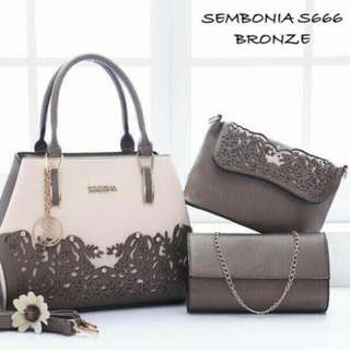 Sembonia 3 in 1 Set Handbag Bronze Color