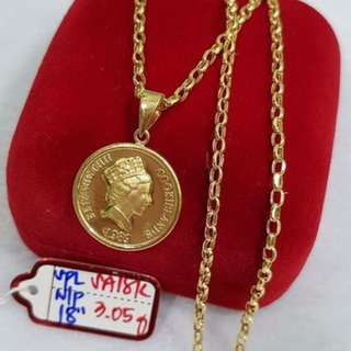 QUEEN ELIZABETH 18K SAUDI GOLD NECKLACE
