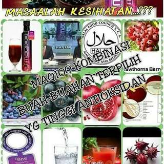 MAQ100 JUICE, THE MOST COMPLETE HIGH ANTIOXIDANT DRINK... Hp no. +65 98165807