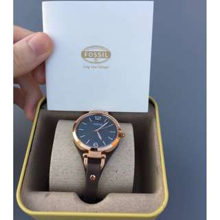 [FREE Delivery] Fossil Women Georgia Rose Gold-Tone Stainless Steel Watch