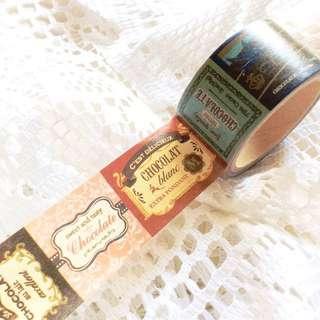 Stuck On You (#5) - Vintage Chocolatier Washi Tape.