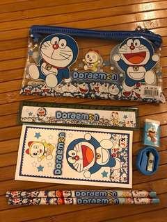 Doraemon Pencil Case stationery set for Children's Party Gift