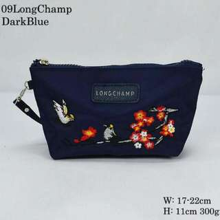 Longchamp Sakura Pouch Dark Blue Color