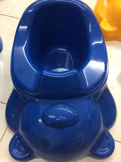 Teddy bear potty Trainer - blue