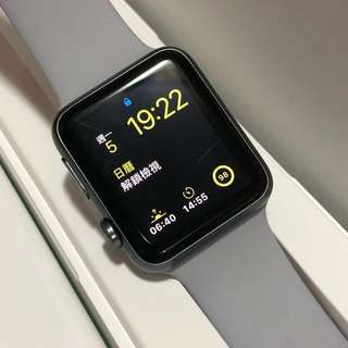Apple Watch series 1 42mm 配全新Apple霧灰色錶帶