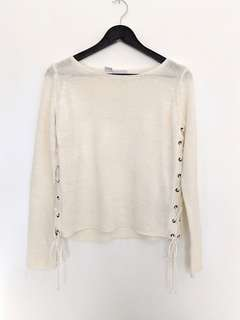Vero Moda Lace Up Knit Top Sz Small