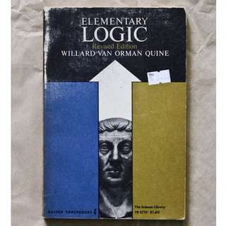 Elementary Logic by Willard van Orman Quite