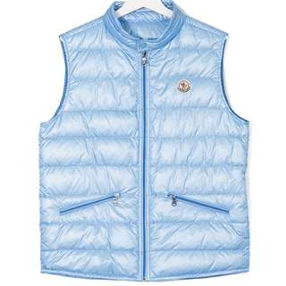 NEW Moncler down gillet 羽絨背心 全新 真品 authentic (size14, can fit adult XS/S)