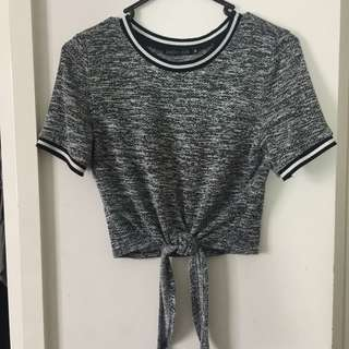 Tie Up Cropped Tshirt