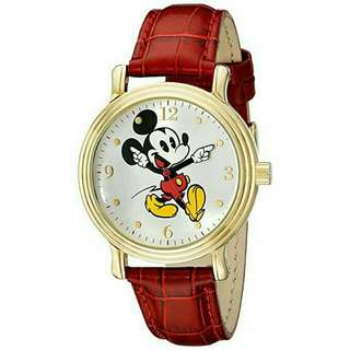 Women's Watch Disney Mickey Mouse Leather Red W001870