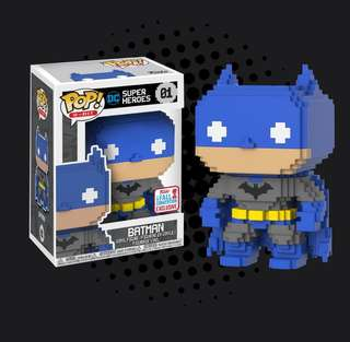 FUNKO POP - BATMAN - BATMAN 8-BIT 2017 FALL CONVENTION EXCLUSIVE
