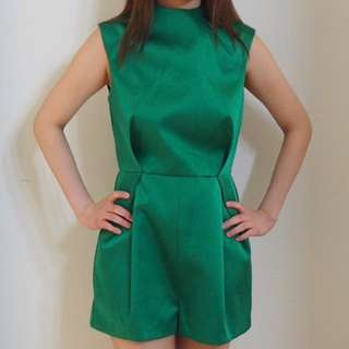 TOPSHOP Green Playsuit