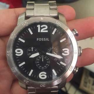 Fossil Big Faced Watch Almost New