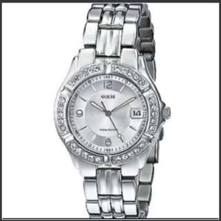Authentic GUESS Women's G75511m Sporty Silver-tone Stainless Steel