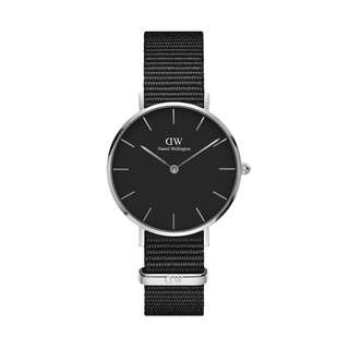100% Original [SALES] Daniel Wellington Watch Classic Petite Collection Cornwall Silver 28mm / 32mm Black Face Free Delivery