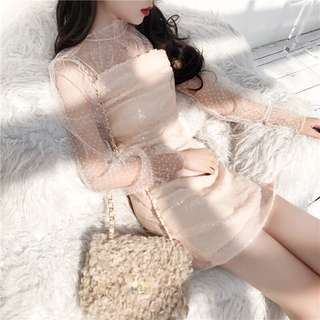 2 Pieces Nude Blink Dress