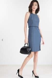 BNWT SELENA DRESS IN DUSTY BLUE