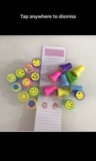 Kids party goody bag - happy stamp
