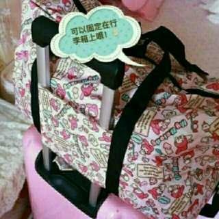 🚚 (現貨)全新行李箱環保旅行包美樂蒂Kitty米奇雙子星折疊旅行袋行李袋背包行李箱上包