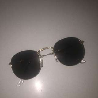 Gold Rimmed Sunglasses